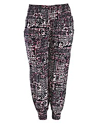 Samya Tribal Print Aladdin Pants