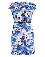 Samya Floral Print Shift Dress With Belt
