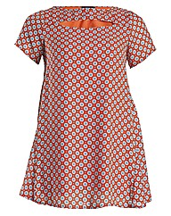 Rubys Closet Circle Print Swing Dress