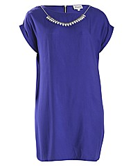 Threads Zip Back Necklace Tunic Dress