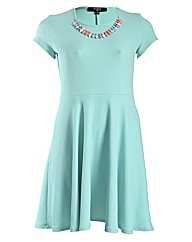 Koko Necklace Skater Dress