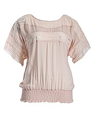 Samya Batwing Lace Stripe Top