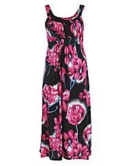 Rubys Closet Floral Print Maxi Dress