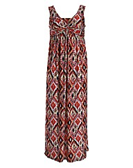 Threads Aztec Knot Front Maxi Dress