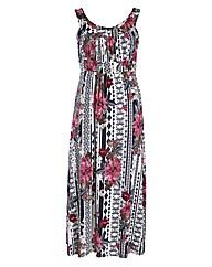 Rubys Closet Vinatge Floral Maxi Dress