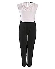 Koko Contrast Cowl Neck Jumpsuit