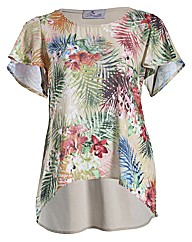 Praslin Tropical Print Top