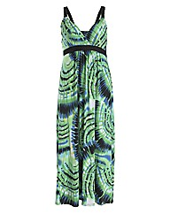 Samya Strap Watercolour Print Maxi Dress