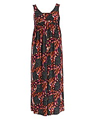 Threads Patchwork Knot Front Maxi Dress
