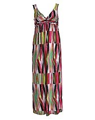 Threads Flame Knot Front Maxi Dress