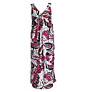 Threads Floral Knot Front Maxi Dress