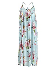 Samya Straps Floral Print Maxi Dress