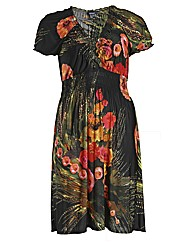 Samya Cap Sleeve Floral Printed Dress