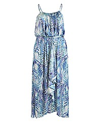 Samya Strap Ruffle Maxi Dress