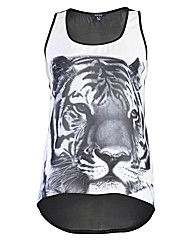 Samya Sleeveless Lion Print Vest Top