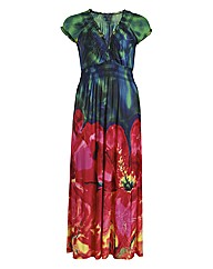 Samya Cap Sleeve Floral Print Maxi Dress