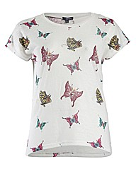 Samya Batwing Butterflies Print Top