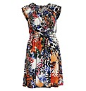 Samya Cap Sleeve Abstract Print Dress