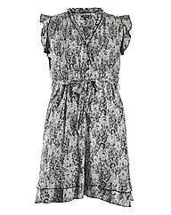 Samya Cap Sleeve Floral Patterned Dress