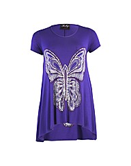 Rubys Closet Cap Sleeve Butterfly Print