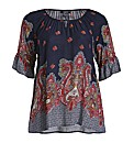Samya Full Sleeve Floral Print Top