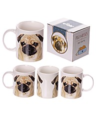 Pug Photo Bone China Mug