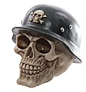 Novelty Skull Decoration with Helmet