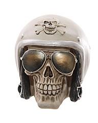 Novelty Skull with Helmet and Sunglasses