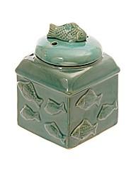 Turquoise Ceramic Fish Oil Burner