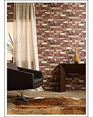 Hemingway Red Brick Wallpaper