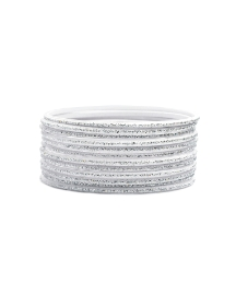 12pc Silver Coloured Bangle Set