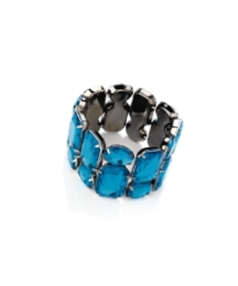 Blue Acrylic Stone Stretch Bracelet