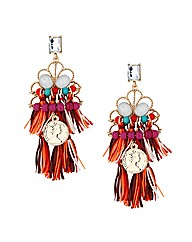 Mood Fabric Tassel Drop Earring