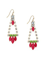 Mood Multi Stone Chandelier Earring