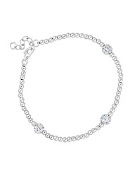 Simply Silver Triple Pave Ball Bracelet