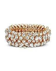 Mood Crystal Set Gold Stretch Bracelet