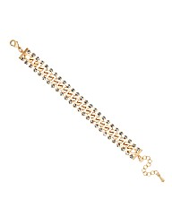 Mood Diamante Gold Chain Bracelet