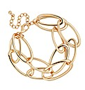 Mood Oval Gold Link Double Row Bracelet