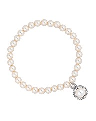 Alan Hannah Devoted Pearl Charm Bracelet