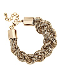 Mood Gold Plaited Mesh Chain Bracelet