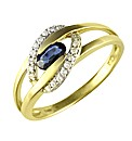 9ct Sapphire and Diamond Ring