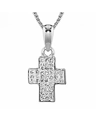 Crystal Set Mini Cross Pendant