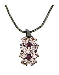 Gun Metal Pink Crystal Pendant