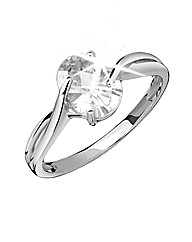 9ct White Gold Solitaire Ring