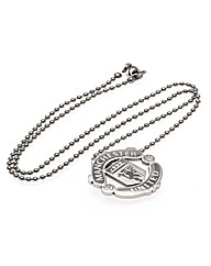 Man Utd S/Steel  Pendant & Chain