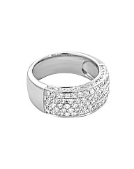 9ct White Gold 1.15ct Diamond Pave Ring