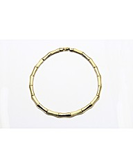 Gold Plated Bamboo Necklace