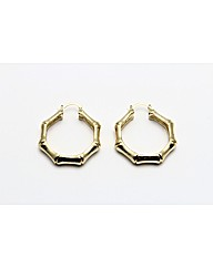 Gold Plated Bamboo Creole Earrings