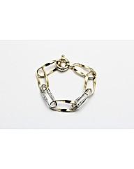 Two Tone Plated Crystal set Bracelet