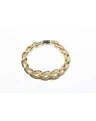Gold Plated Patterned Bracelet